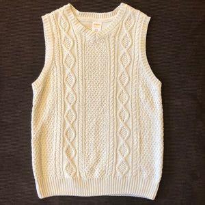 Gymboree Cream Cabled Sweater Vest 7 8 EUC WOW